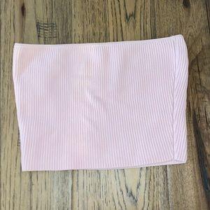 Aritzia Babaton Pink Strapless Tube Top
